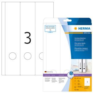 Herma 4831 SPECIAL Inkjet-Ordneretiketten - DIN A4 - 61 x...