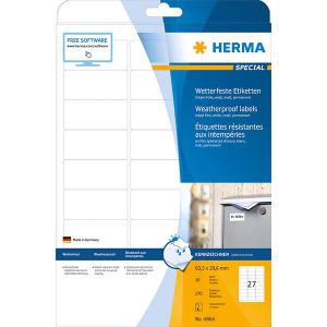 Herma 4864 SPECIAL Inkjet-Etiketten - DIN A4 - 63,5 x 29,6 mm - weiß - 270 Stück