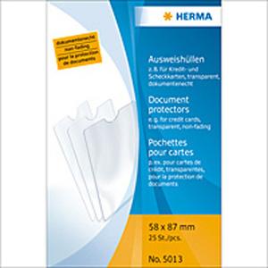 Herma 5013 Ausweishüllen - 58 x 87 mm - transparent...