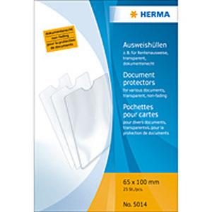Herma 5014 Ausweishüllen - 65 x 100 mm - transparent...