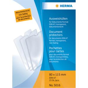 Herma 5016 Ausweishüllen - 80 x 115 mm - transparent...