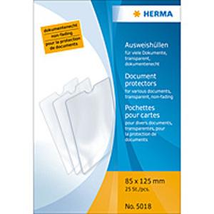 Herma 5018 Ausweishüllen - 85 x 125 mm - transparent...
