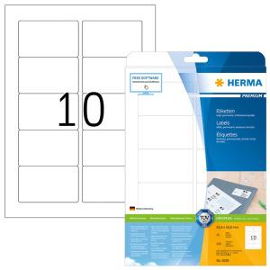 Herma 5028 PREMIUM Etiketten - DIN A4 - 83,8 x 50,8 mm - weiß - 250 Stück