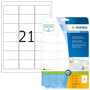Herma 5029 PREMIUM Etikett - DIN A4 - 63,5 x 38,1 mm - weiß