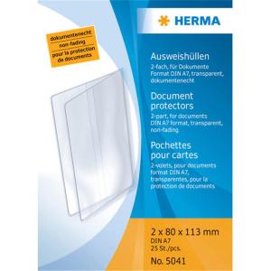 Herma 5041 Ausweishüllen - 2 Fächer - DIN A7 -...