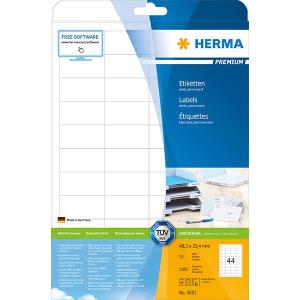 Herma 5051 PREMIUM Etiketten - DIN A4 - 48,3 x 25,4 mm -...