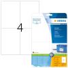 Herma 5063 PREMIUM Etiketten - DIN A4 - 105 x 148 mm - weiß - 100 Stück