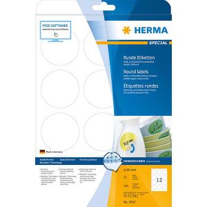 Herma 5067 SPECIAL Etiketten - DIN A4 - Ø 60 mm - rund - weiß - ablösbar - 300 Stück
