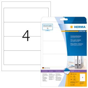 Herma 5095 SPECIAL Ordneretiketten - DIN A4 - 192 x 61 mm...