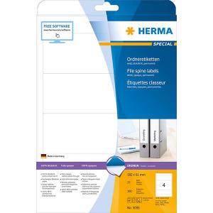 Herma 5095 SPECIAL Ordneretiketten - DIN A4 - 192 x 61 mm - weiß - 100 Stück