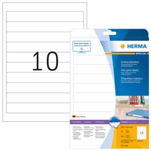 Herma 5119 SPECIAL Ordneretiketten - DIN A4 - 192 x 25,4...