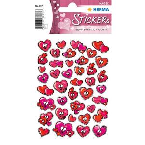 Herma 5371 MAGIC Sticker - Herzaugen - Stone - rot - 42...