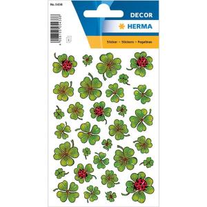 Herma 5438 DECOR Sticker - Kleeblätter - 93 Sticker