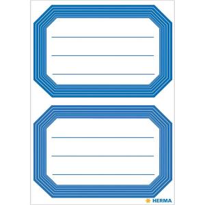 Herma 5714 VARIO Schuletiketten - neutral - blauer Rand -...