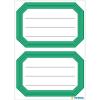 Herma 5716 VARIO Schuletiketten - neutral - grüner Rand - 12 Stück