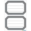 Herma 5719 VARIO Schuletiketten - neutral - grauer Rand - 12 Stück