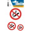"""Herma 5736 VARIO Hinweisetiketten - """"Nicht rauchen"""" - 3 Größen - weiß - 3 Stück"""