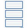 Herma 5798 VARIO Schuletiketten - neutral - blauer Rand - 18 Stück