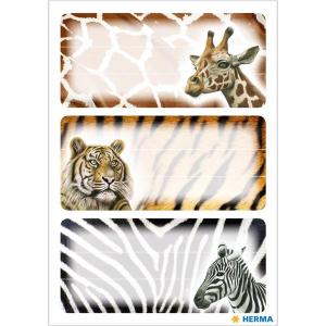 Herma 5877 VARIO Schuletiketten - Afrikanische Tiere - 9...
