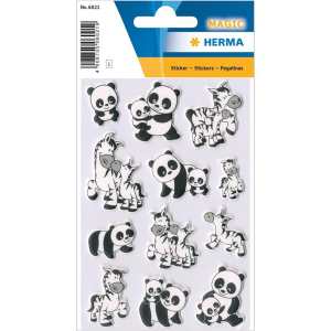 Herma 6021 MAGIC Sticker - Panda & Zebrafamilien - 12...