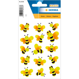 Herma Schmucketikett Magic Bienen Neon