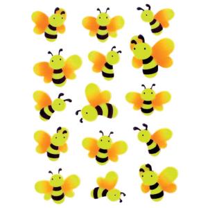 Herma 6038 MAGIC Sticker - Bienen - neon - 15 Sticker