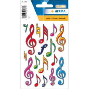 Herma 6181 MAGIC Sticker - Notenschlüssel - bunt -...