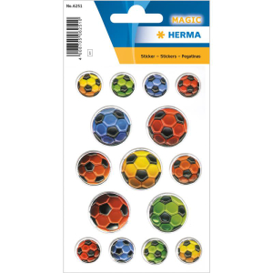 Herma 6251 MAGIC Sticker - bunte Fussbälle -...