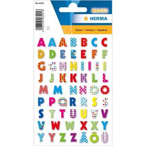 Herma 6291 MAGIC Sticker - Buchstaben - bunt - Stone...