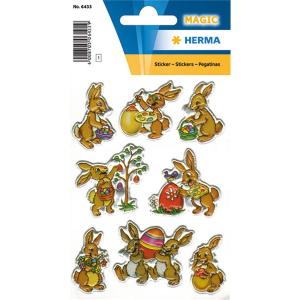 Herma 6433 MAGIC Sticker - Hasen - geprägt - 8 Sticker