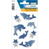 Herma 6436 MAGIC Sticker - Delfine - glitzernd - 8 Sticker