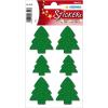 Herma 6549 MAGIC Sticker - Weihnachtsbäume - grüner Filz - 6 Stück