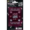 Herma 6647 GLAM ROCKS Sticker - Love - glitzernd
