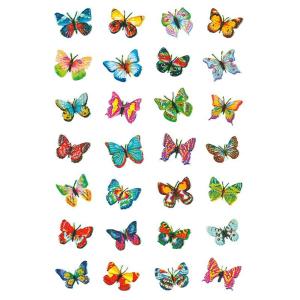 Herma 6819 MAGIC Sticker - Schmetterlinge - 32 Sticker