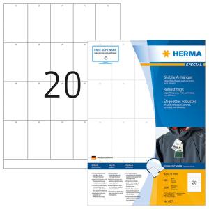 Herma 6871 SPECIAL Stabile Anhänger - DIN A4 - 42 x 70mm - weiß - nicht klebend - 2000 Stück