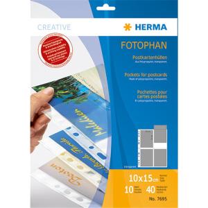 Herma 7695 Postkartenhülle - DIN A4 - transparent -...