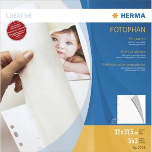 Herma 7755 Fotokarton - 320 x 315 mm - weiß - 5...