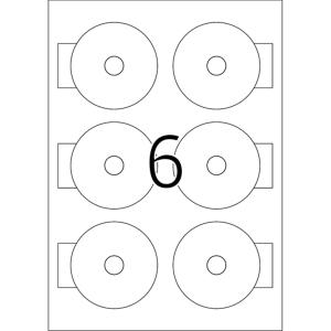 Herma 8619 SPECIAL Mini-CD-Etiketten - DIN A4 - Ø...