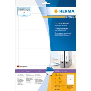 Herma 8621 SPECIAL Ordneretiketten - DIN A4 - 192 x 61 mm...