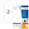 Herma 8624 SPECIAL CD-Etiketten - DIN A4 - Ø 116 mm - weiß - - permanent haftend - 20 Stück