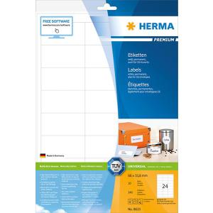Herma 8633 PREMIUM Etiketten - DIN A4 - 66 x 33,8 mm -...
