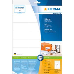 Herma 8638 PREMIUM Etiketten - DIN A4 - 70 x 36 mm -...