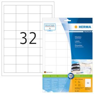 Herma 8643 PREMIUM Etiketten - DIN A4 - 48,3 x 33,8 mm - weiß - 320 Stück