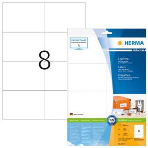 Herma 8645 PREMIUM Etiketten - DIN A4 - 105 x 74 mm -...