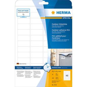 Herma 9531 SPECIAL Outdoor Folienetikettent - DIN A4 - 45,7 x 21,2 mm - weiß - 480 Stück