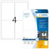 Herma 9534 SPECIAL Outdoor Folienetikettent - DIN A4 - 99,1 x 139 mm - weiß - 40 Stück