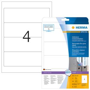Herma 10165 SPECIAL Ordneretiketten - DIN A4 - 192 x 61...