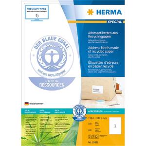 Herma 10831 SPECIAL Etiketten - aus Recyclingpapier - DIN...