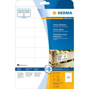 Herma 10905 SPECIAL Power-Etiketten - DIN A4 - 70 x 36 mm...