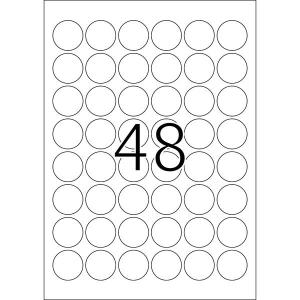 Herma 10915 SPECIAL Power-Etiketten - DIN A4 - Ø 30 mm - rund - weiß - 1200 Stück